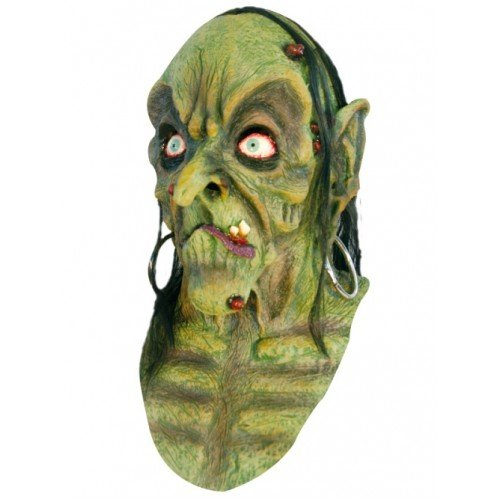 Scary Halloween Latex Kopf Hals & Face Mask ()