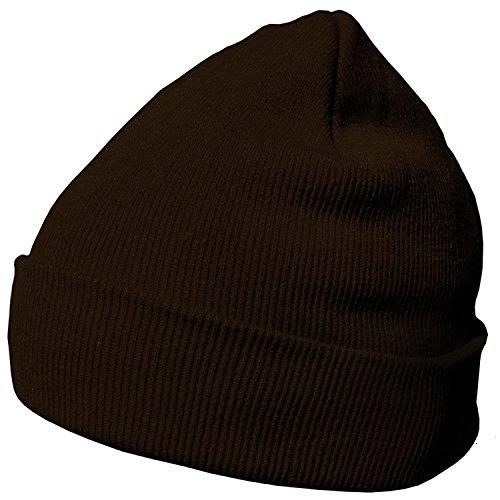 DonDon gorro de invierno gorro de abrigo diseño clásico moderno y suave  marrón bf2e2022794