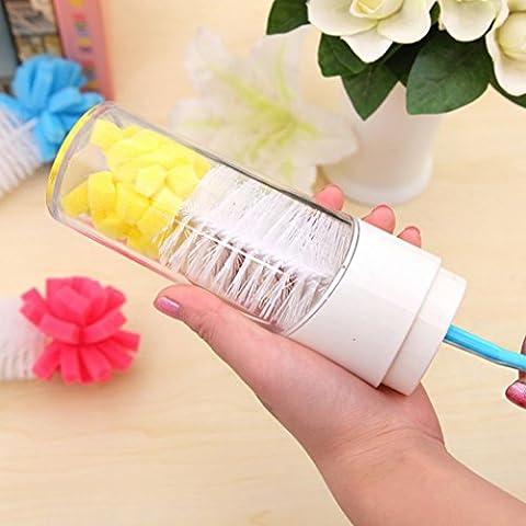 Upxiang 1 PC Sponge Cup Pinsel, Küche Reinigung Werkzeug, Schwamm Pinsel Werkzeug, für Weinglas Flasche Coffe Tee Glas Cup