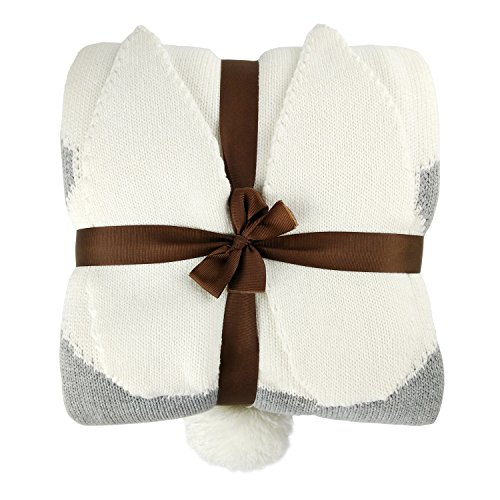 Thick Cotton Knitted Rabbit Blanket, Double Layer Soft, used for sale  Delivered anywhere in UK