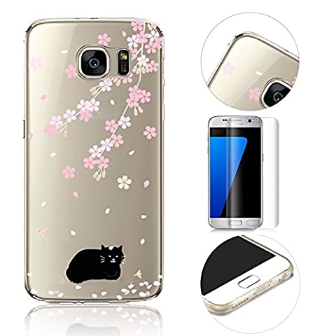 Galaxy S7 Edge TPU Silicone Etui Housse,MingKun Souple Shock-Absorption Anti-rayures