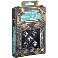 Q-Workshop QWOMTD35 - Metal Tech D6 Dice RPG Set 5, Brettspiel