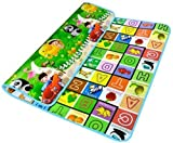 #6: KBF Jannat Kids & Baby Waterproof Soft and Sturdy Imported Double Side Baby Play Crawl Mat(Green_Coloured)