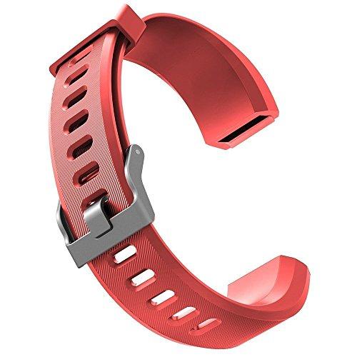 Trinken Konzentrieren (Smart Bracelet,Aokey HR Ersatzbänder Fitness Tracker Verstellbarer Ersatzband Silikon Ersatz Straps Armband Uhrenarmband Ersatz-Zubehör Sport Armband(Rot))