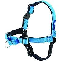 PetSafe Easy Walk Deluxe Hundegeschirr M blau, 1,8  m Leine, kein Ziehen, Tragekomfort, für mittelgroße Hunde