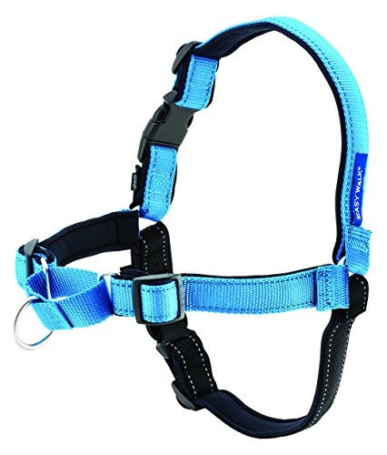 PetSafe, Easy Walk Deluxe Harness/leash, No pull, Training, Adjustable for small/medium/large dogsMedium/Large, Ocean Blue, 1.8 m
