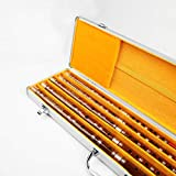 Guanso Cinese Dizi Bamboo Flauto principiante Set 5 Confezioni C, D, E, F, G Chiave con Scatola in Lega di Alluminio (Colore : D)