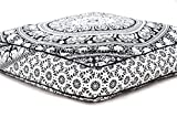 Elephant Mandala Floor Pillow Indian Square Ottoman Pouf Large Meditation Pillow Oversized Outdoor Bed by HandicraftsPalace