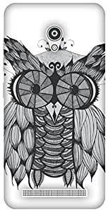 The Racoon Grip printed designer hard back mobile phone case cover for Asus Zenfone Go ZC500TG. (Owl)