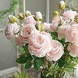 Bringbring Fiore Artificiale Fiore Finto Teste di Rose Sposa Bomboniera Bouquet Decorativo Seta per Matrimoni Pianta Artificiale Fiori Esterne Festa Decorazione della Parete di Giardino 1PCS (Rosa)