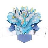 blomeet 3d-Pop-Up-Grußkarten mit Origami-Karte mit Umschlag für Hochzeit, mit Tages- und mehr