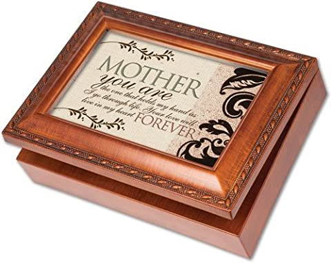 Cottage Garden Mother Mom In My Heart Forever Music Musical Jewelry Box Plays Wind Beneath Wings by Cottage Garden