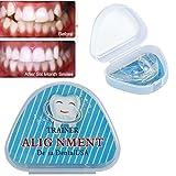 Bocchino per raddrizzare i denti contenitore per bocchino supporto per ammucchiatore di denti irregolari migliora salute orale