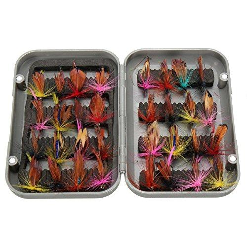 caxmtu 32Angeln Haken Tackle Fly Angelköder Set künstliche Insekten Kunstköder Forelle (Fisch-haken Von Eagle Claw)