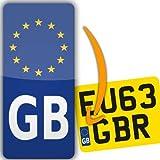 Euro GB Motorbike Motorcycle Number Plate adhesive vinyl sticker Europe road-legal
