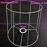 Lealoo Gestell weißer für Runder Lampenschirm, Höhe und Diam. 30cm, Diam. Stecknuss 38mm