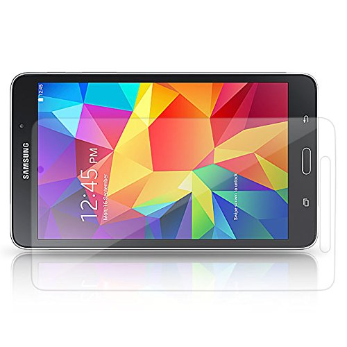 Saxonia. 1x Displayschutzfolie für Samsung Galaxy Tab 4 7.0 SM-T230 P231 T235 Kristallklar in bester Qualität inkl. Mikrofasertuch von Saxonia - Klar