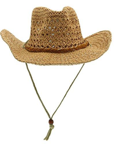La Vogue Chapeau Paille Homme Cow-Boy Panama Fedora Trilby Soleil Outdoor Café