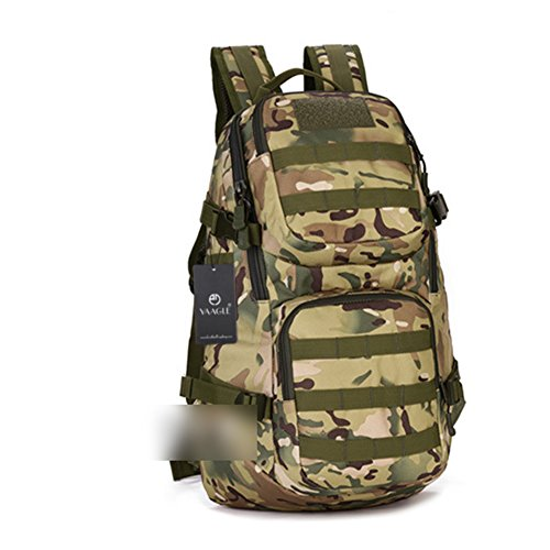 YAAGLE 35 L Rucksack outdoor Sporttasche Gepäck Bergsteigen Reisetasche Schultertasche Herren militärisch Sporttasche Tarnung 2