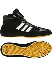 Adidas Junior/Kids Havoc K-Lace-Up Wrestling/Boxing Shoe/Boot - Black/White