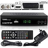 Tempo 4000 Decodeur TNT HD pour TV / Decodeurs TNT HD / TNT pour TV / Décodeur TNT HD Demodulateur TNT FULL HD Recepteur TNT HEVC Tuner TNT Boitier TNT Adaptateur TNT Parabole HDMI Peritel, Noir