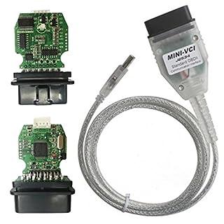 JullyelegantDE Mini-VCI-Kabel, OBD2-Auto-Diagnose-USB-Schnittstellen-Werkzeug, Verbesserte Version V 2.0.4 OBD-Scanner, Berufsfahrzeug-Diagnosewerkzeug für Toyota