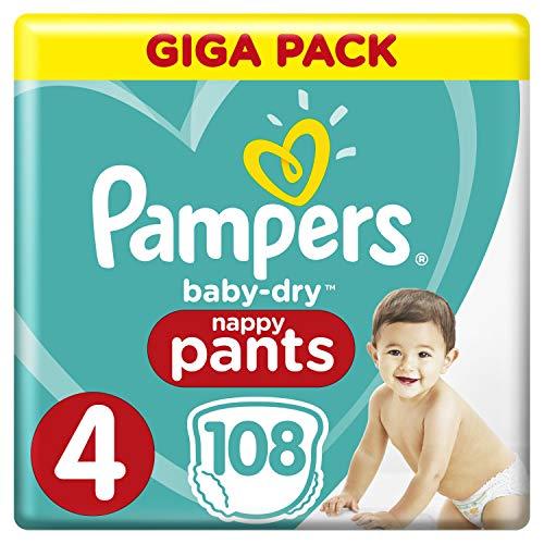 Pampers Baby-Dry Pants/Windeln, Größe 4, mit Luftkanälen, 108 Stück