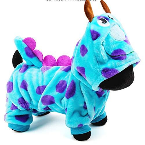 PiPisun Haustierkleidung für Hunde, Cartoon-Motiv mit Blasendrache,