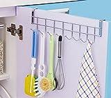Kurtzy 8 Haken MehrzweckEdelstahlAufhängehaken Nicht Faltbarer Metall Garderobenhaken für Heim Büro Wohnzimmer Badezimmer und Küche -Hakenleiste zum Aufhängen von Spültüchern, Handtuch, Schneebesen, Schmuck, Schere, Schlüsselanhänger-Kleiderhaken, Handtuchhalter, Haken für Garderobe