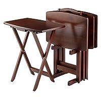 مجموعة طاولة الوجبات الخفيفة كبيرة الحجم من وينسم، لون الجوز
