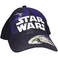 Cappello da Bambino in cotone con visiera Star Wars regolabile cod: 985 Nero e Blu