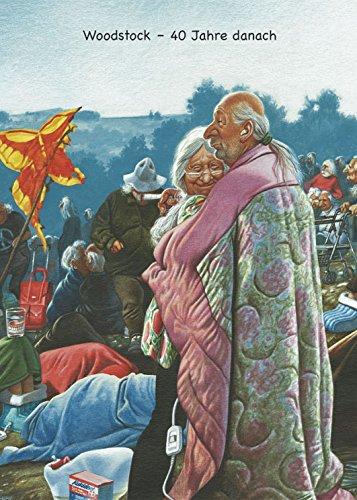 Postkarte A6 • 1478 ''Woodstock - 40 Jahre danach'' von Inkognito • Künstler: Gerhard Haderer • Satire
