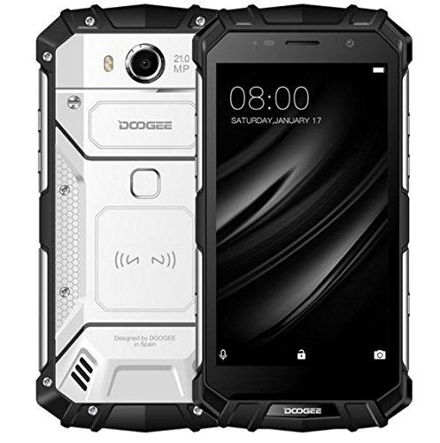 DOOGEE S60 - 5,2 Zoll FHD Wasserdicht / Shockproof 4G Smartphone, 5580mAh Batterie 12V2A Schnelle Ladung (drahtlose Ladung unterstützt), Helio P25 2.5GHz Octa Core 6GB 64GB, - Silber