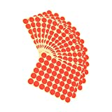#6: Imported 720Pcs 25mm Dots Sticker Round Circle Blank Labels Self Adhesive- Red