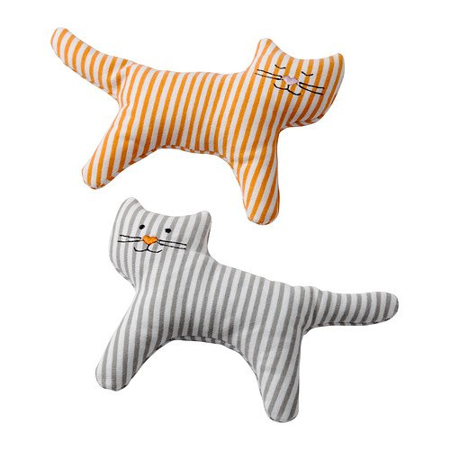 IKEA LEKA - Rattle, cat / 2 pack / 2 pack