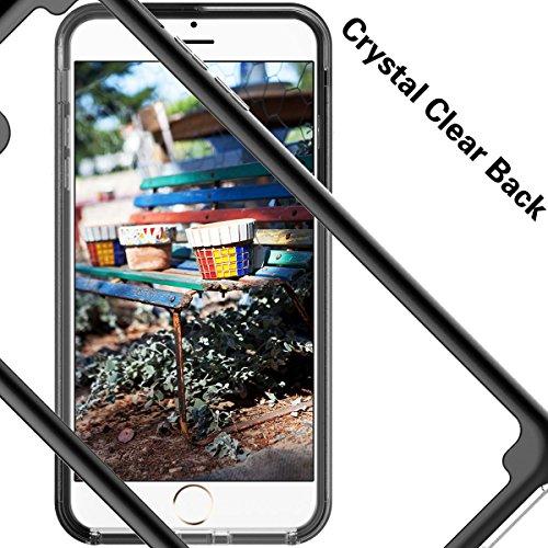 GrandEver iPhone 7Plus sottile Bumper & trasparente Custodia Cover posteriore Ultra Hybrid Cover Rigida trasparente Custodia Back Cover Slim Silicone Soft cornice posteriore ultra sottile Protective  nero