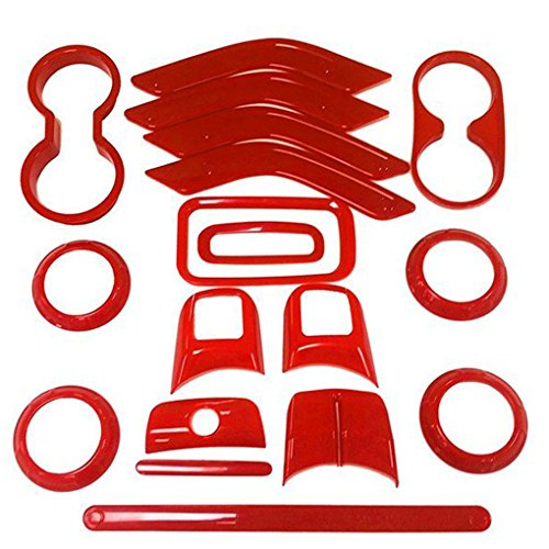 Meisijia 18PCS/Set Auto-Innendekoration Trim Deckel voll Kit f¨¹r Jeep Wrangler Auto dekorativen Zubeh?r Trim