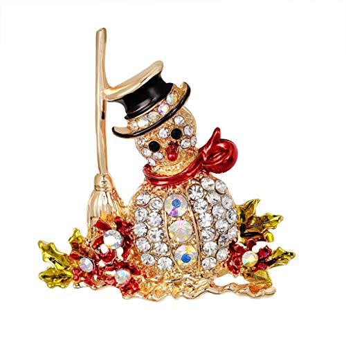 INLLADDY Weihnachtsbrosche Seidenschal Schnalle Dekoration B 5x5cm
