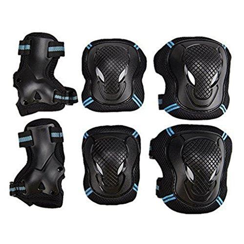 Kinder & Erwachsene Schutzausrüstung Radfahren Roller Skating Knieschützer Elbow Pad Handgelenkschutz Pad Kit 6pcs Set