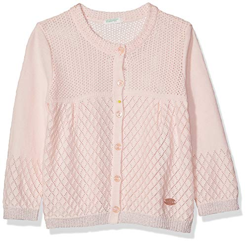 United Colors of Benetton Baby-Mädchen L/s Sweater Pullover, Pink (Rosa Pastello 003), One Size (Herstellergröße: 74)