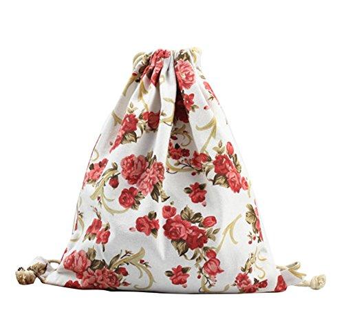 Blumen Fur Bag (Cosanter Turnbeutel Sportbeutel Gymsack Gymbeutel Kordelzugbeutel Pfingstrose Blumen Trainingsbeutel Drawstring Backpack Bag für Damen Frauen)
