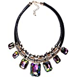 YAZILIND Charm Pendant Chain Crystal Choker Chunky Bib Statement Short Necklace Collar