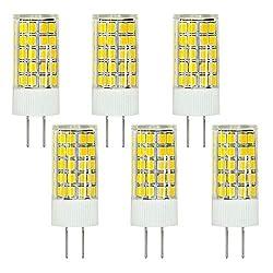 MENGS® 6 Stück G4 LED Lampe 6W AC/DC 12V Kaltweiß 6500K 63x2835 SMD Mit ACRYLIC und Keramic Material