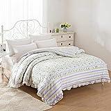 DD RFWEQ ETYU Koreanischen Stil Spitze Spitze Blumen/Blumen 100% Baumwolle Bettbezug - B220*240 cm (87 x 94 Zoll)