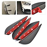 #10: Automaze 4 pc Matte Black Finish Carbon Fiber Patten Front Bumper Canard, Body Diffuser Fins Splitters, Universal Fit For Any Car (Black)