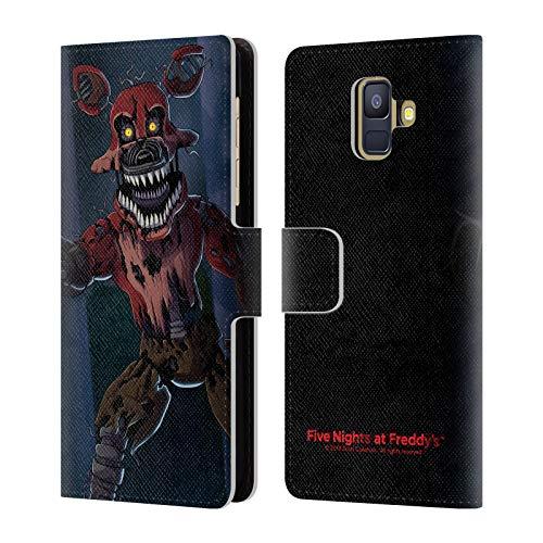 (Head Case Designs Offizielle Five Nights at Freddy's Geist Foxy Spiel 3 Brieftasche Handyhülle aus Leder für Samsung Galaxy A6 (2018))
