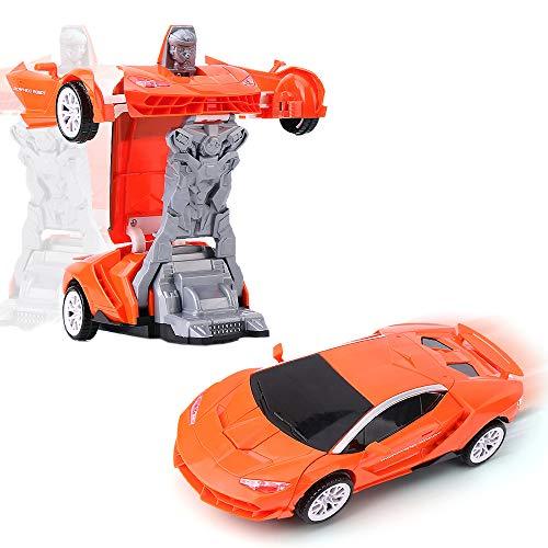 Transfom Supercar,Italienischer Sportwagen 1:18 Modellauto mit automatischer Verwandlung zum Roboter!Mit extra Hellen Led's in Allen Farben und echten Motorsound!Super Geschenk zu Weihnachten!