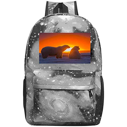 dsgsd Schultasche Polar Bears on The Snow Casual Large-Capacity Star Backpack Unisex Travel Bag Blue - Kelty Gepäck