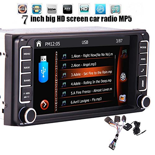 "7"" Doppel-Din-Touchscreen in Dash Bluetooth Autoradio-1080P FM/AM Radio Autoradio Bluetooth Head Unit Kein DVD 2 Din GPS Navigation USB/SD/Subwoofer Hinten Cam-in Car Deck Video Audio Entertainment"