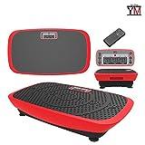 YM PEDANA Vibrante Basculante 3D Display Telecomando Fitness 2 Motori da 250W (Rosso)